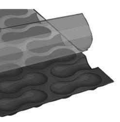 Cobertores de verano premium negra de 500 micras geobubble