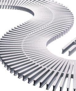 Módulo rejilla transversal para curvas