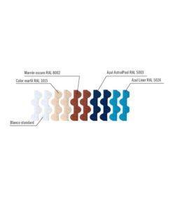 Módulo rejilla transversal para curvas colores